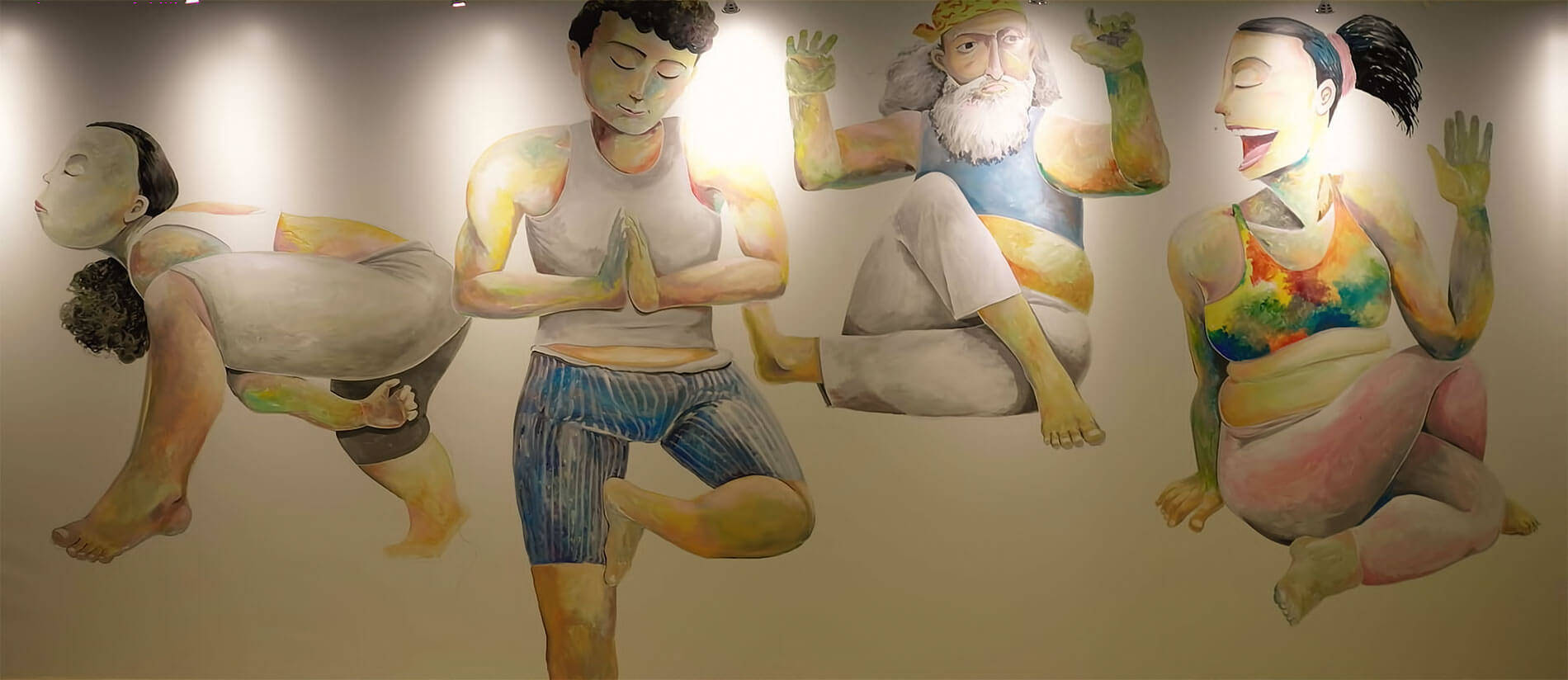 Ying-fat's Mural x Pure Yoga Live Wall Art Painting For Pure Yoga x Pacific Place