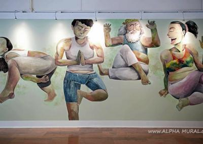 Mural Artwork Ying-fat's X Pure Yoga