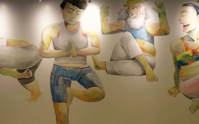 Ying-fat's Mural x Pure Yoga