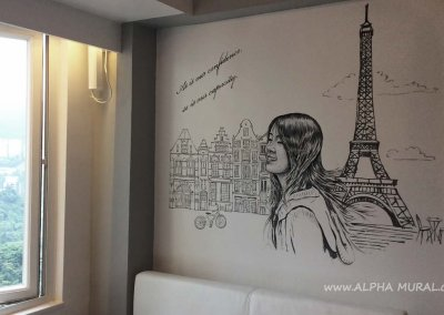 The girl's room- Mural painting in life space
