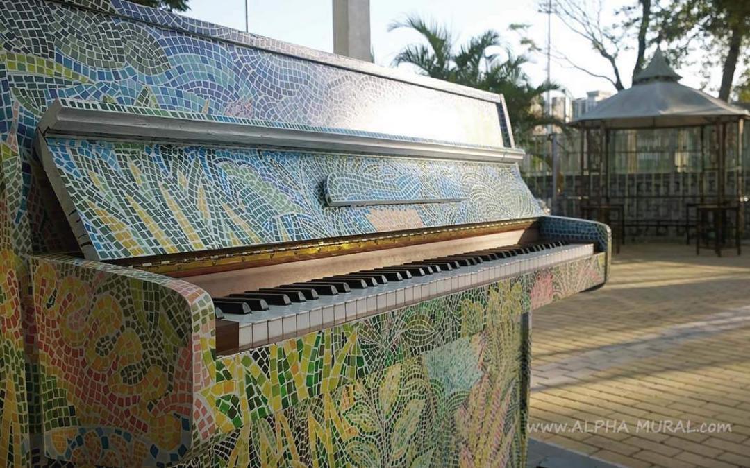 手繪馬賽克鋼琴-Ying-Fat X HKACA X SKAAA