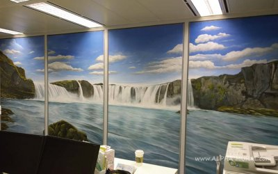 Mural of Office @Exchange Square