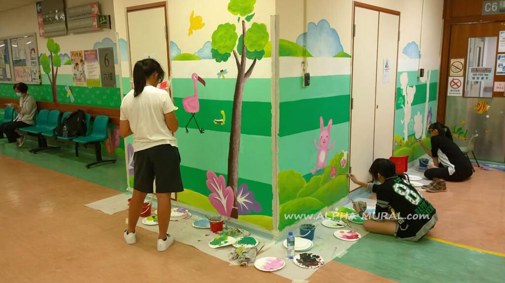 壁畫工作坊-屯門醫院主座大樓及兒童病房