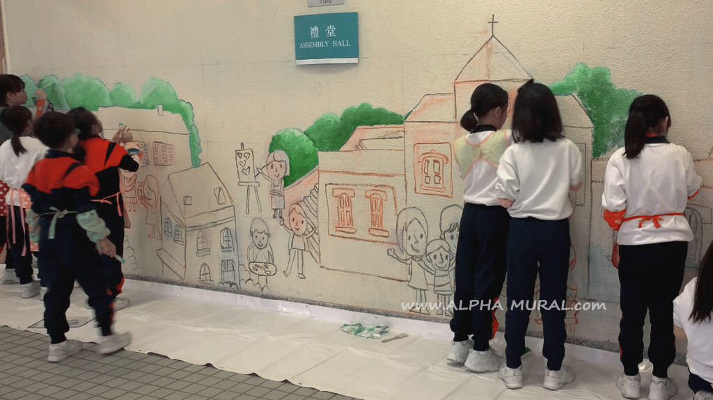 壁畫工作坊-聖公會嘉福榮真小學