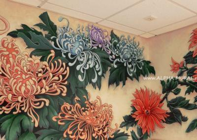 mural-artworks-Spider chrysanthemum01