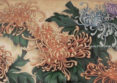 mural-artworks-Spider chrysanthemum02