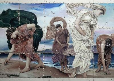 壁畫復修-「海邊的希臘少女」